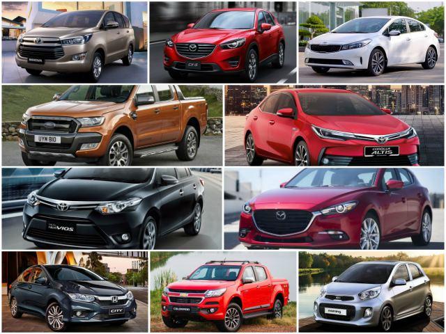 10 mẫu xe ô tô bán chạy tháng 11
