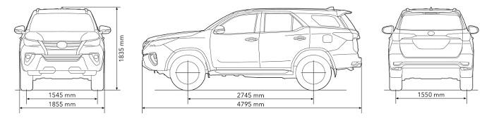Động cơ và khung xe Toyota Fortuner