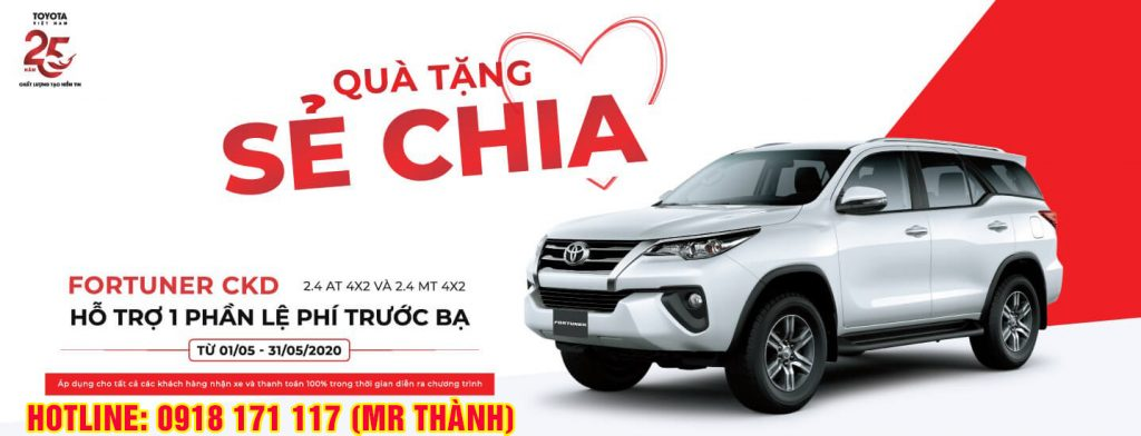 khuyến mãi mua xe Toyota