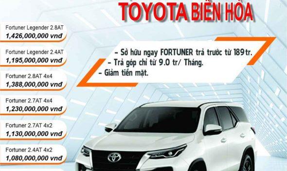 Khuyến mãi mua xe Toyota Fortuner
